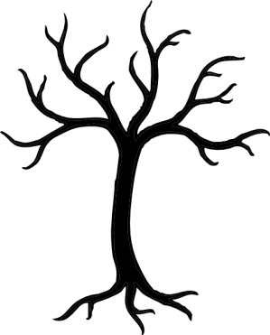 tree simple clip easy clipart trees drawings graphic basic vector wall flower stencil advertisement shapes garden draw