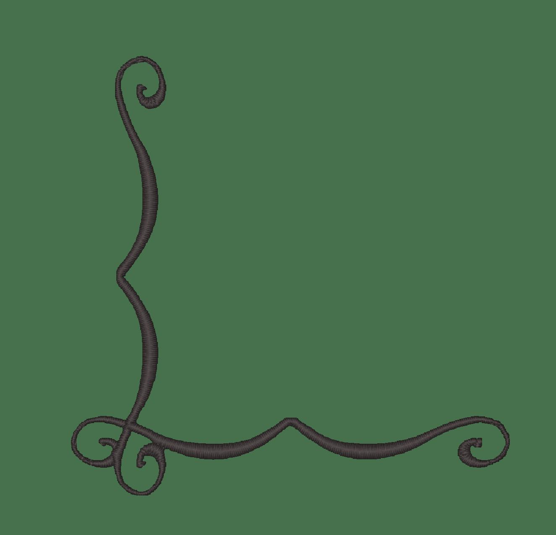 hight resolution of simple corner border clipart