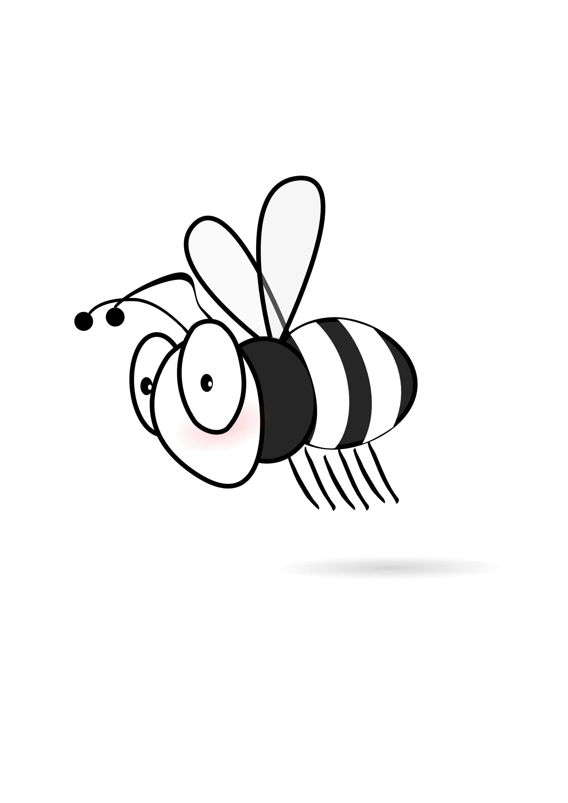 Cute Bee Clipart Black And White Clipart Panda