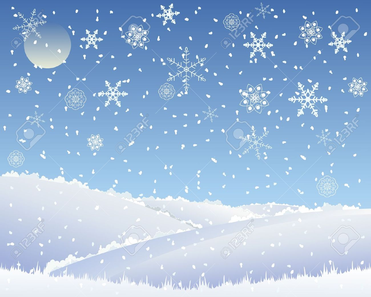hight resolution of snow clipart