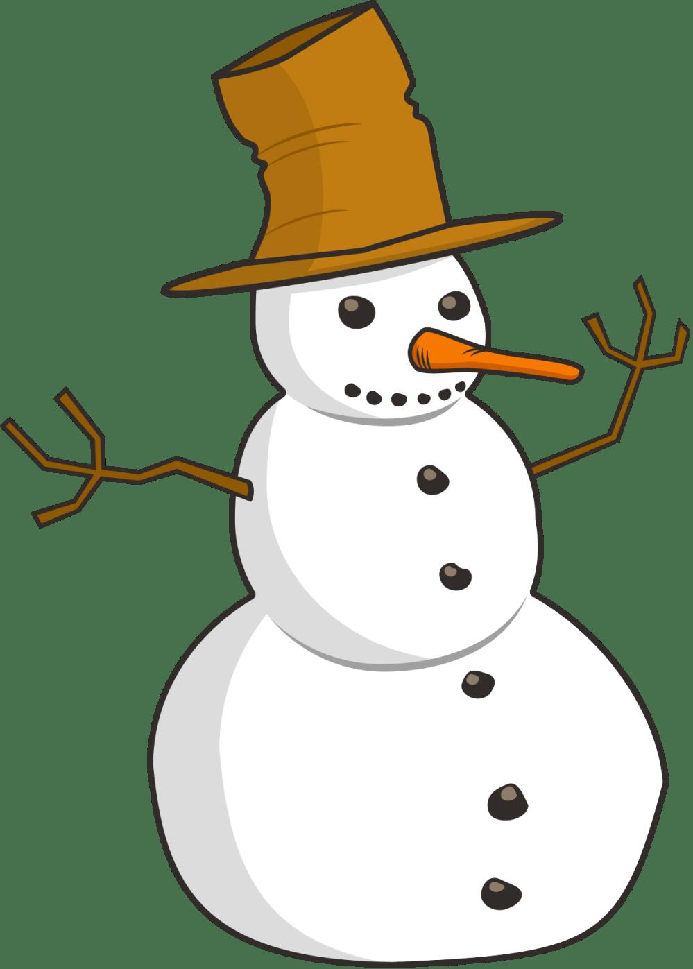 medium resolution of snowman clipart