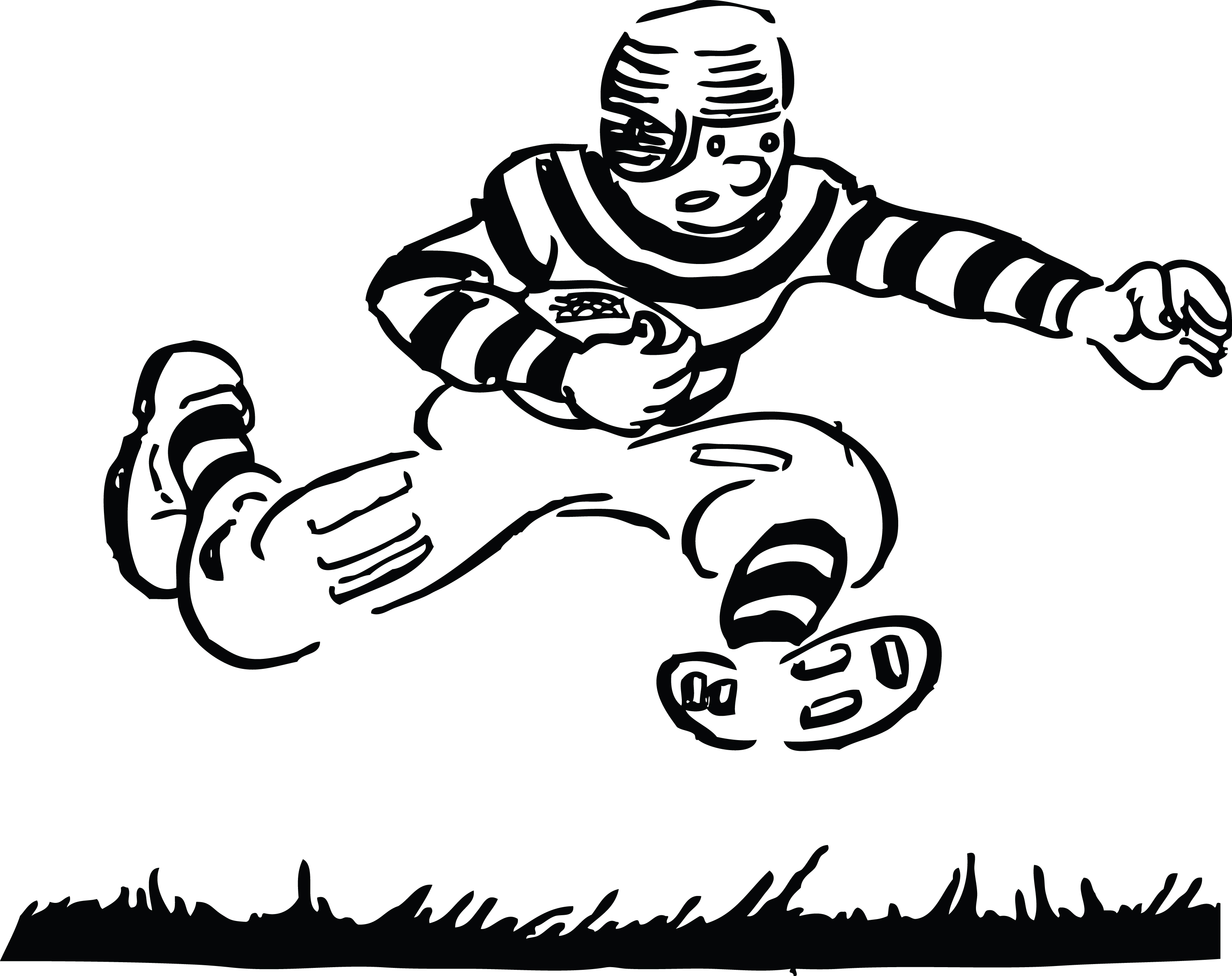Mean Football Player Clipart Clipart Panda