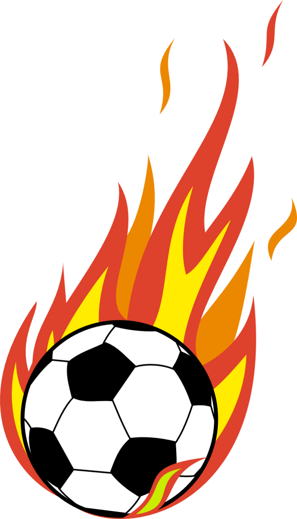 Flaming Soccer Ball Clip Art