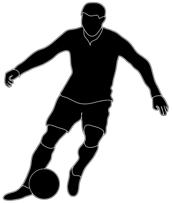 Soccer Player Clip Art Black and White