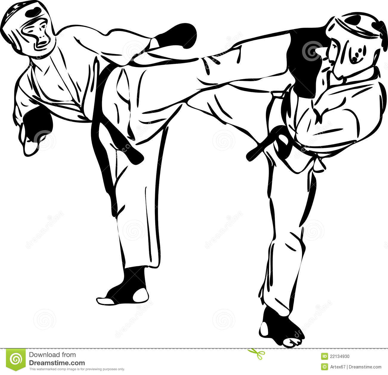 Taekwondo Sparring Clip Art Cliparts