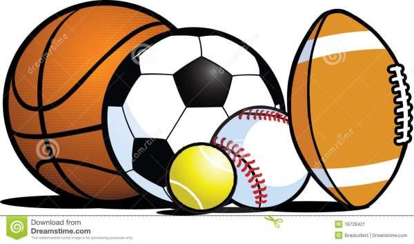 sports balls clipart borders