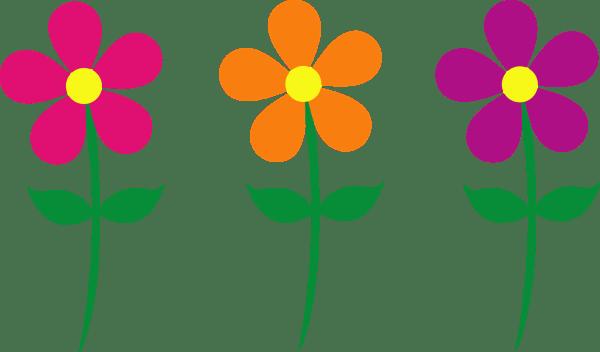 Cartoon Spring Flowers Clip Art
