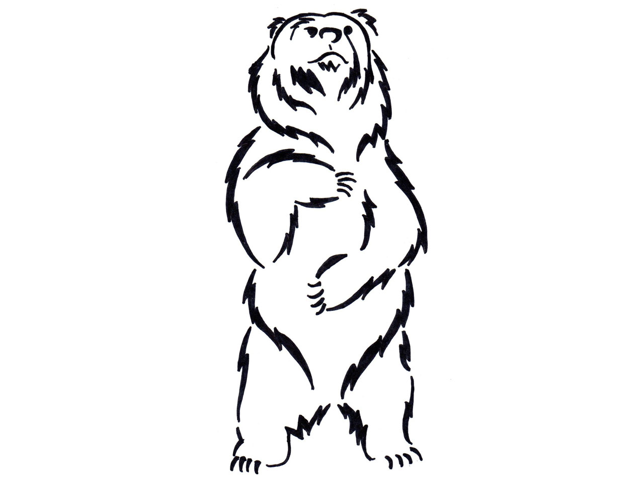 Standing Bear Drawing