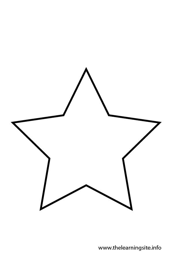 Line Drawing Christmas Star