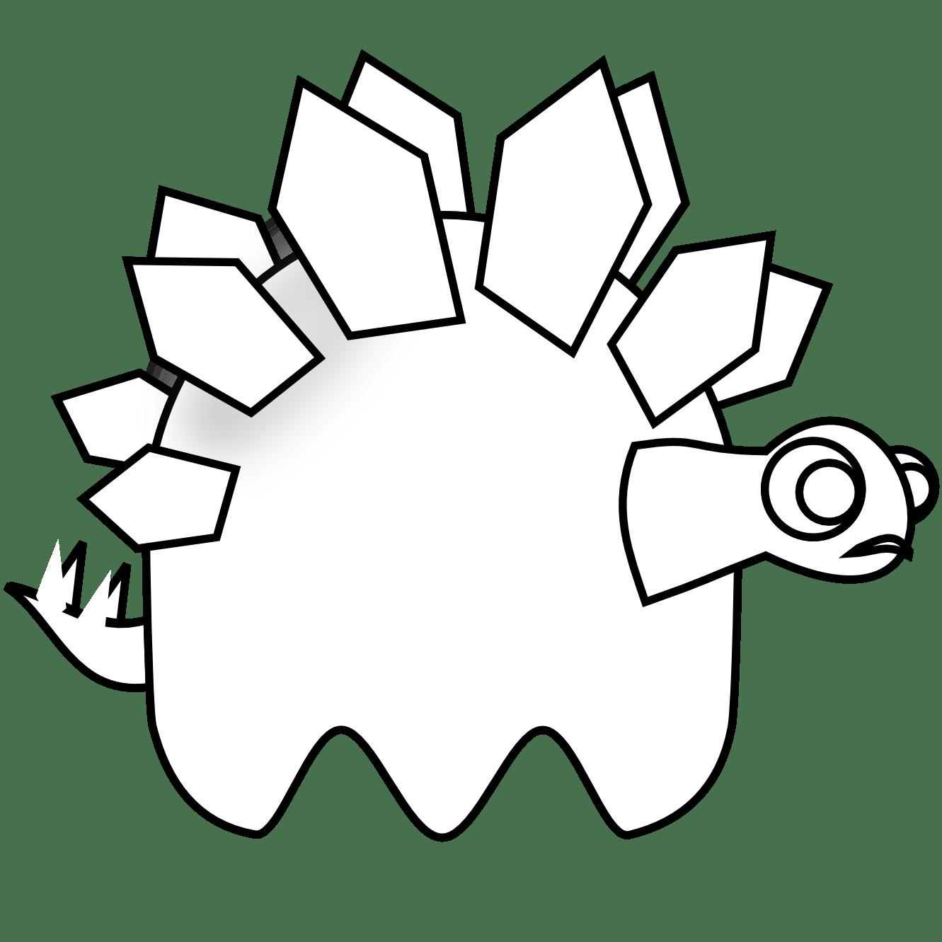 Stegosaurus Clip Art Black And White