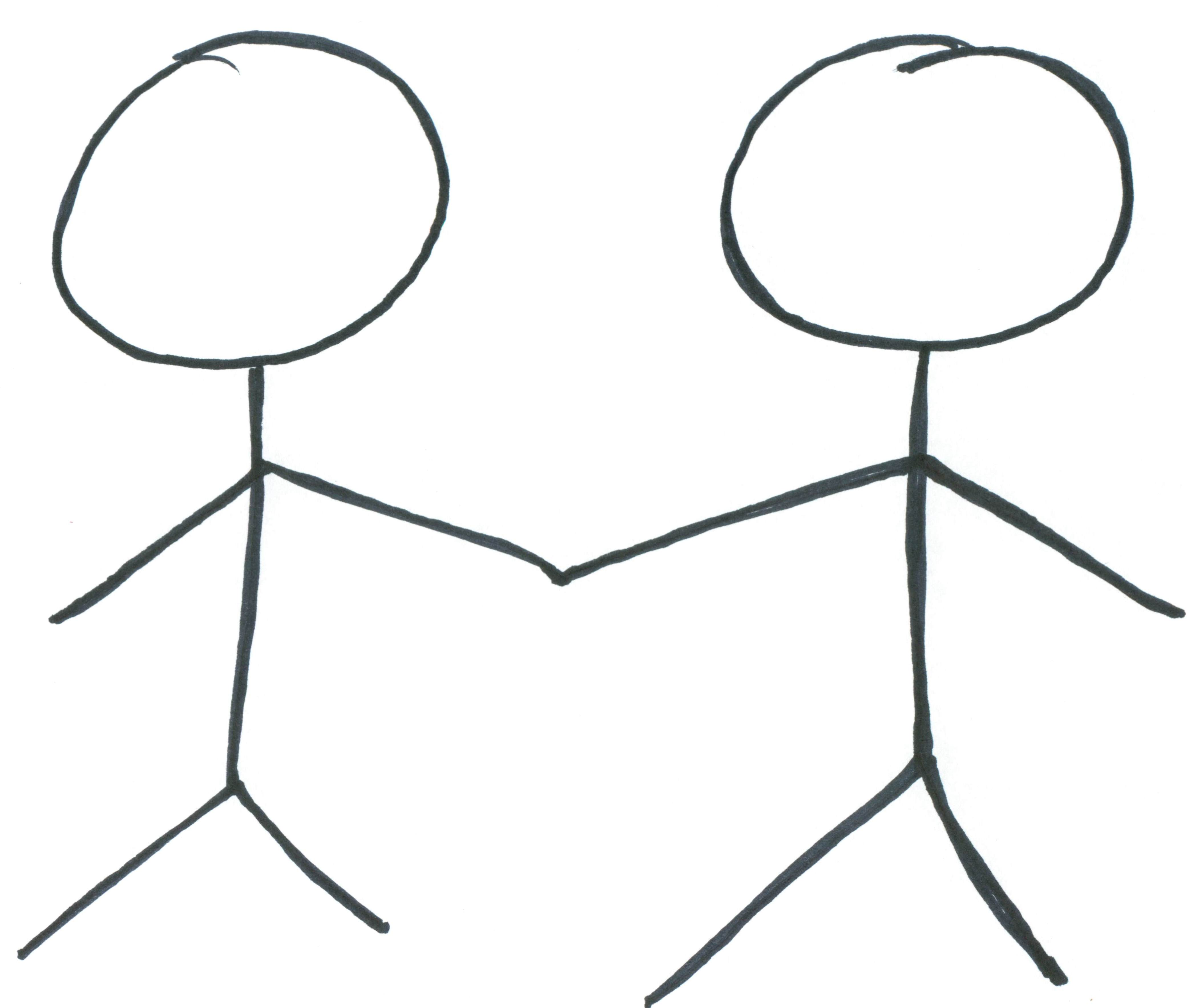 Stick People Holding Hands Clipart Clipart Panda
