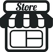 clip clipart icon convenience center grocery shopping icons vector front supermarket retail stores department mall cartoon clipartpanda drawings royalty gograph