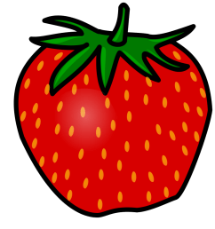 strawberry clip art [ 900 x 900 Pixel ]