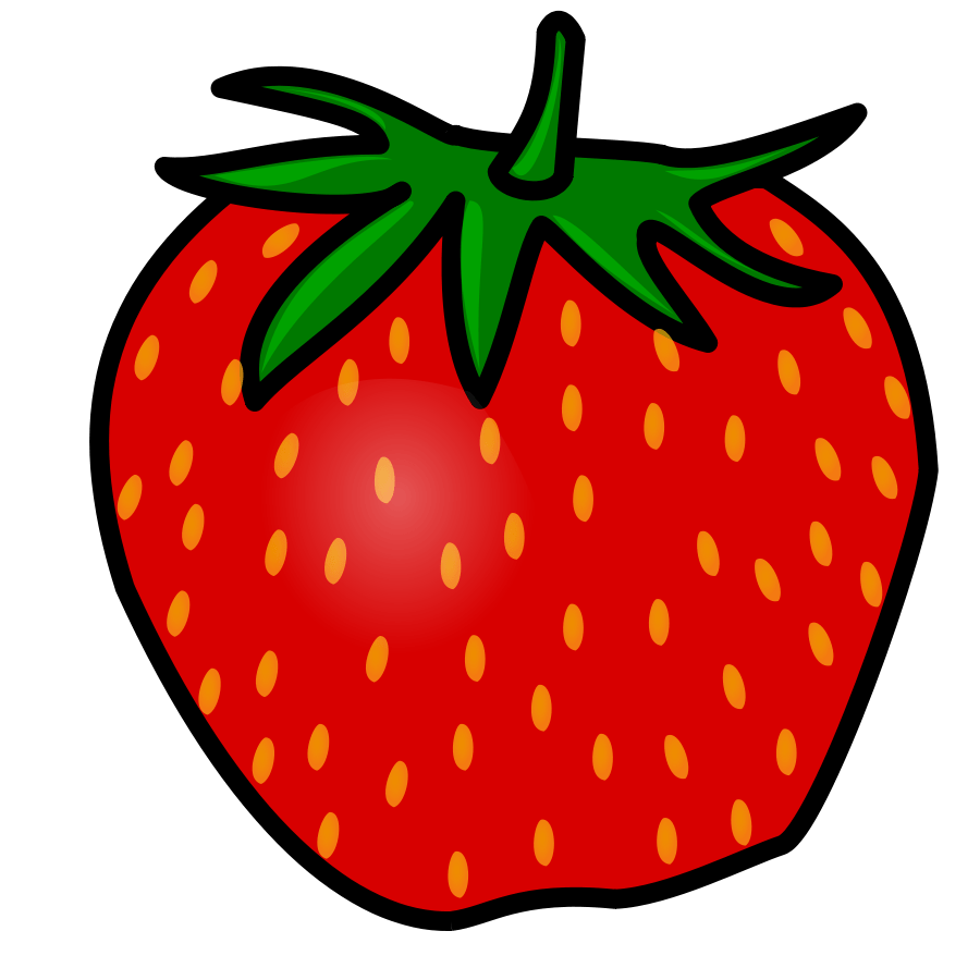 medium resolution of strawberry clip art