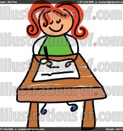 student at desk clipart [ 1024 x 1024 Pixel ]