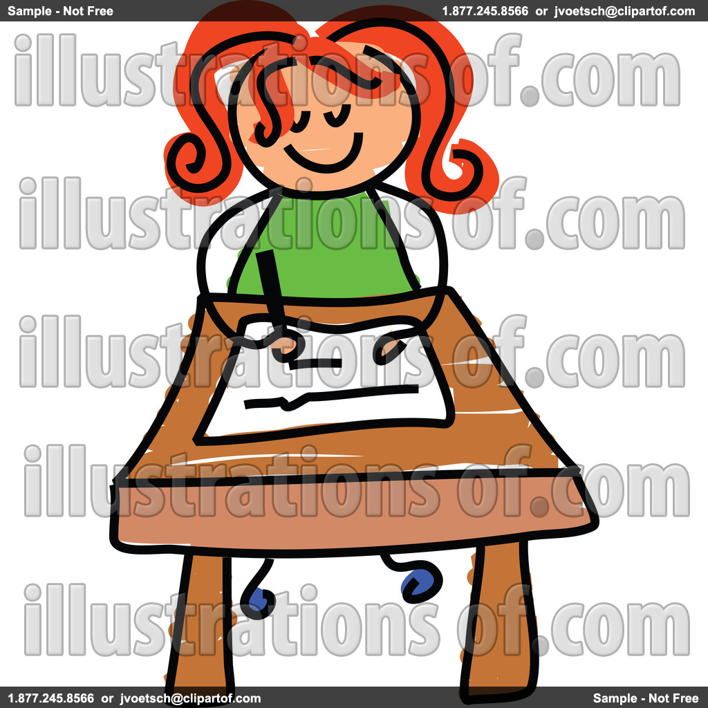 hight resolution of student at desk clipart