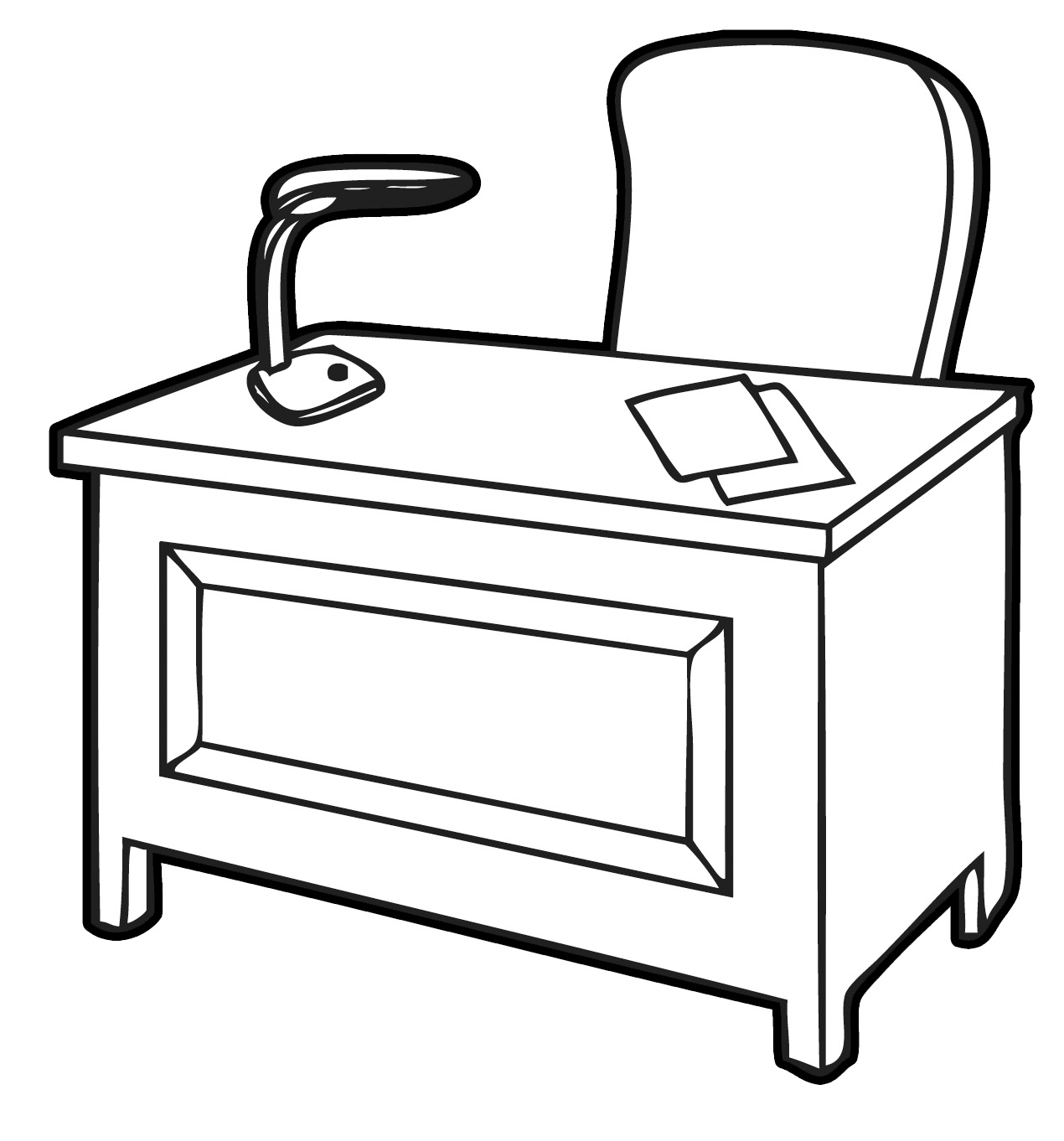 Student Writing At Desk Clipart Clipart Panda
