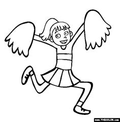Summer Camp Clip Art Coloring Pages
