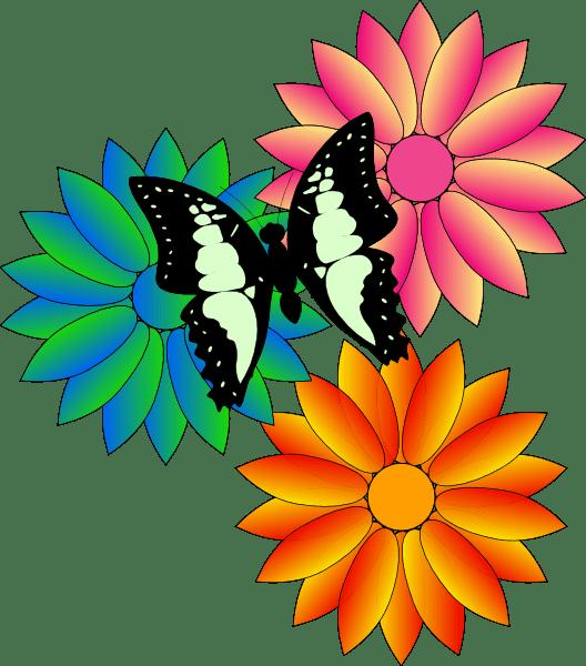 summer flowers clipart
