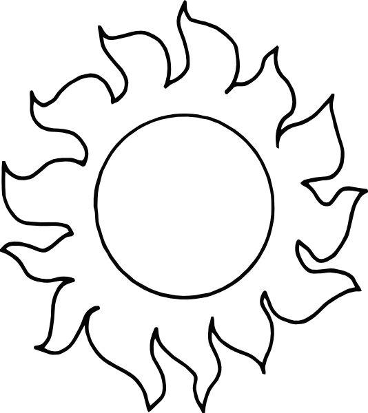 And Black Art Clip Day White And Sun