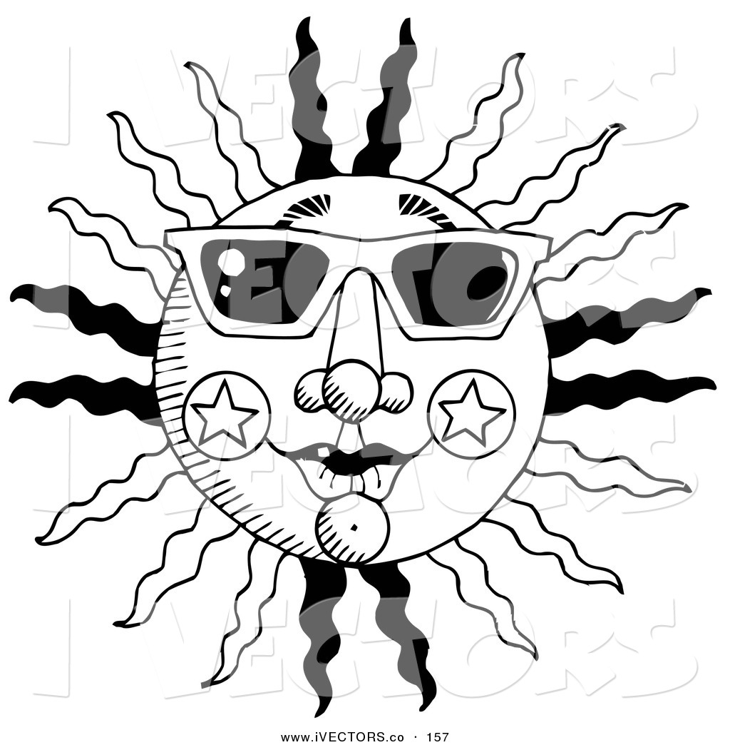 Black And White Summer Sun Clipart Panda