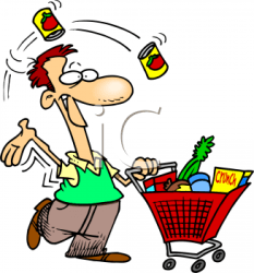 supermarket clipart grocery shopping clip market customer food things items go stores