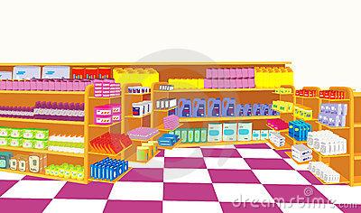 supermarket clipart goods