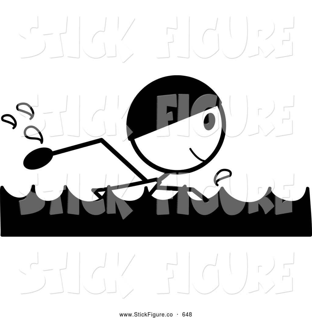 hight resolution of swimming clipart black and white