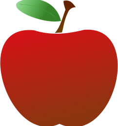 teacher apple clipart [ 2201 x 2400 Pixel ]