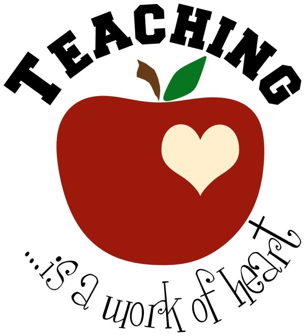 Teacher Apple Clipart Panda - Free