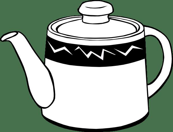 Teapot Clip Art Black White