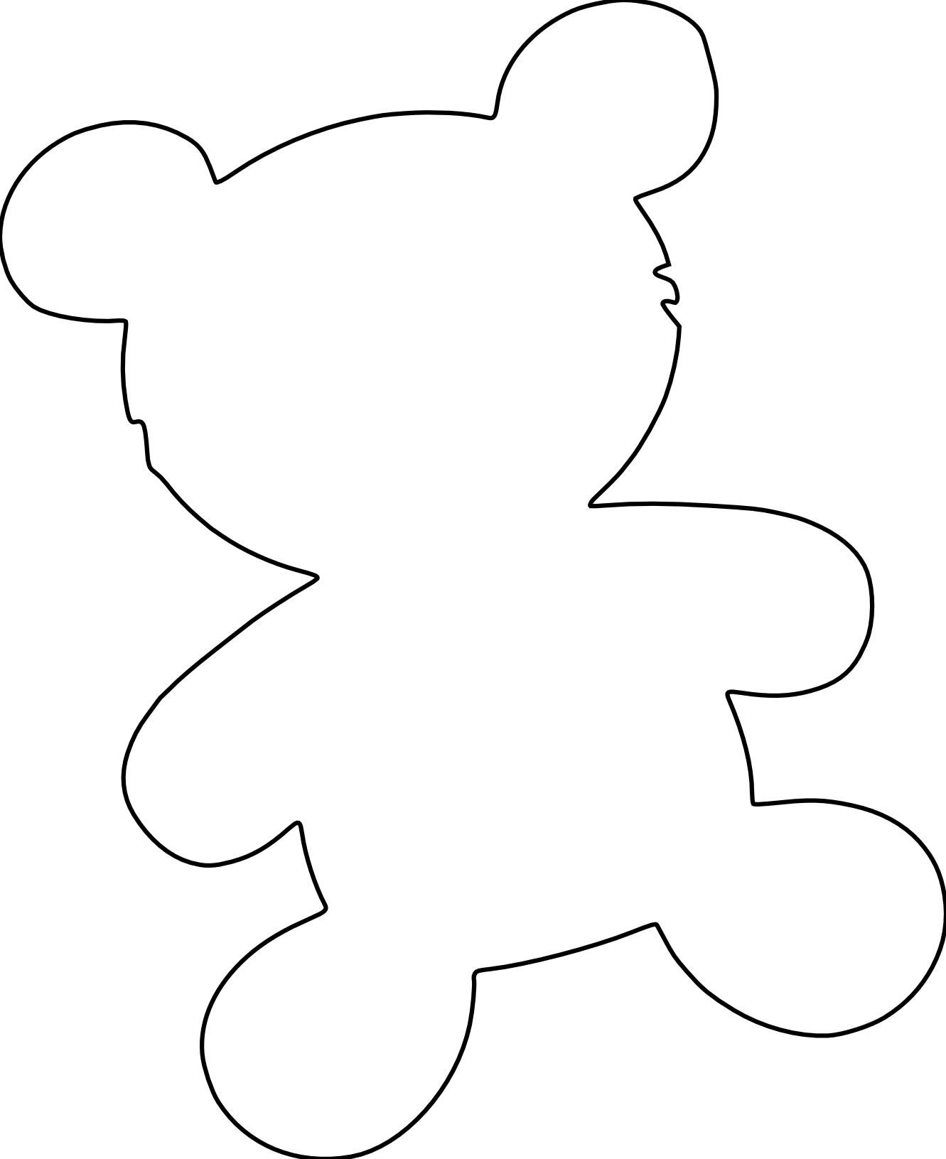 Teddy Bear Outline Clipart Clipart Panda