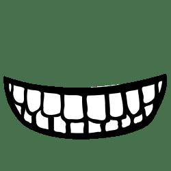 mouth clipart teeth clip vector panda categories