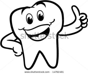 tooth teeth clipart smiling happy vector winking clip cartoon version shutterstock pic clipground 20clipart 20white 20and 20black similar toothbrush advertisement