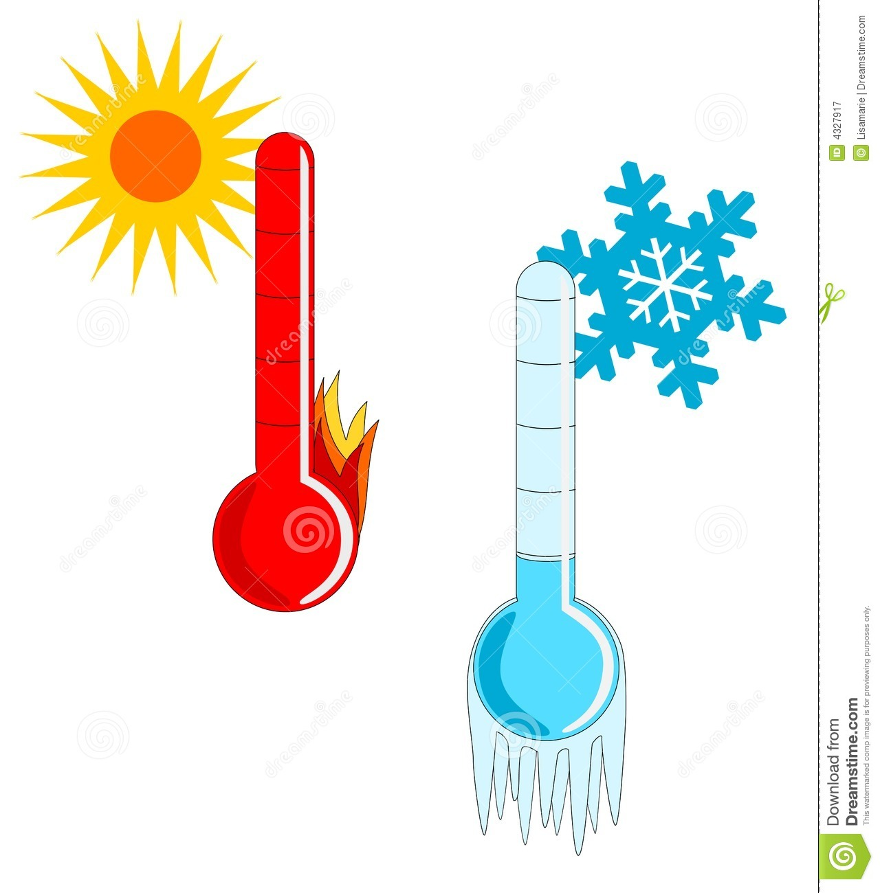 Hot And Cold Thermometer Clip Art Clipart Panda