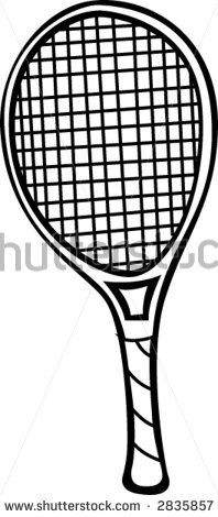 Tennis Racket Coloring Pages