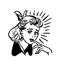 retro clipart woman clip worried texture library ladies lines 1950 quiet lady clipartpanda mom cliparts illustrations vector street nervous 20clipart