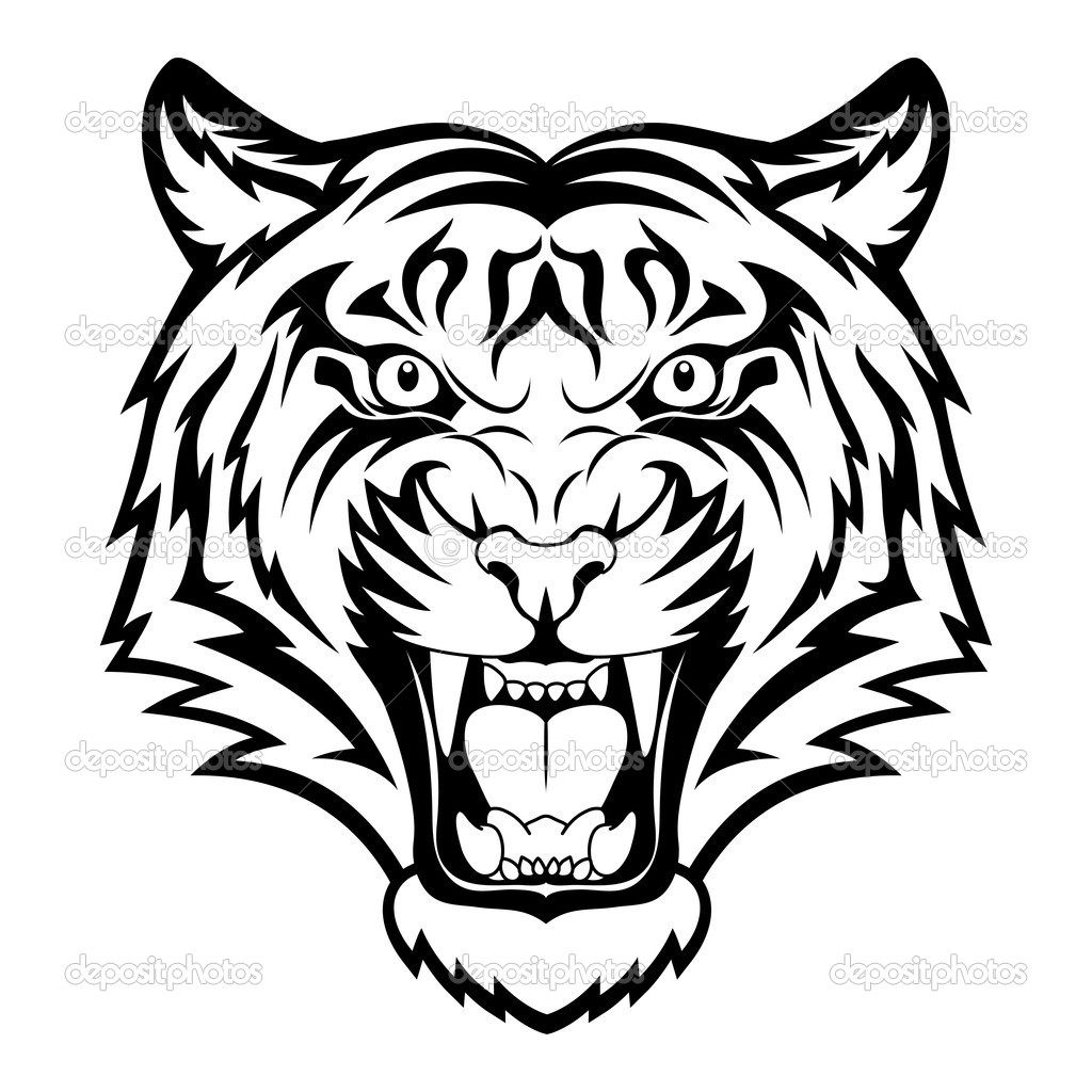 panda bear diagram cj lancer stereo wiring tiger face clip art black and white | clipart - free images