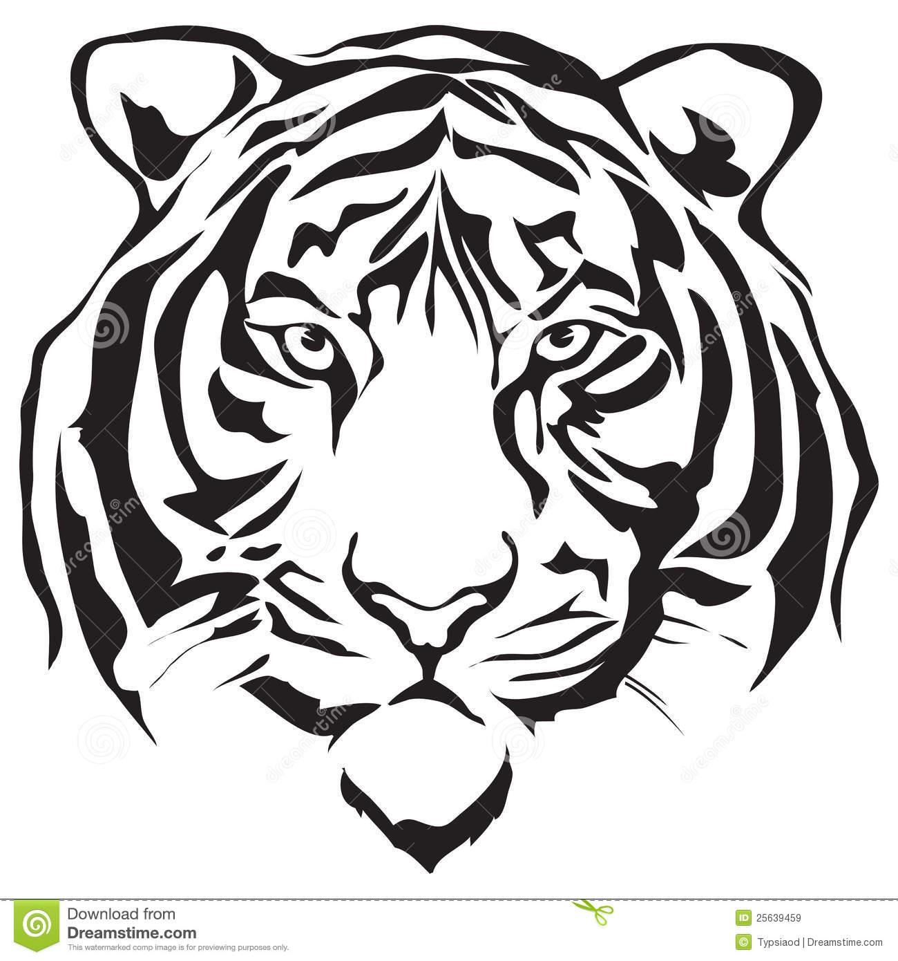 hight resolution of tiger face clip art