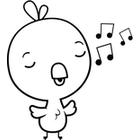 bird clipart cute chicken sing baby singing clipartpanda tortoise cartoon chick terms