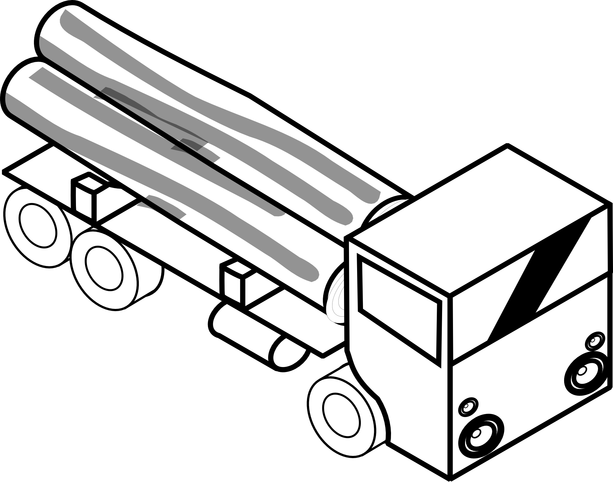 Toy Truck Clipart Black And White Clipart Panda