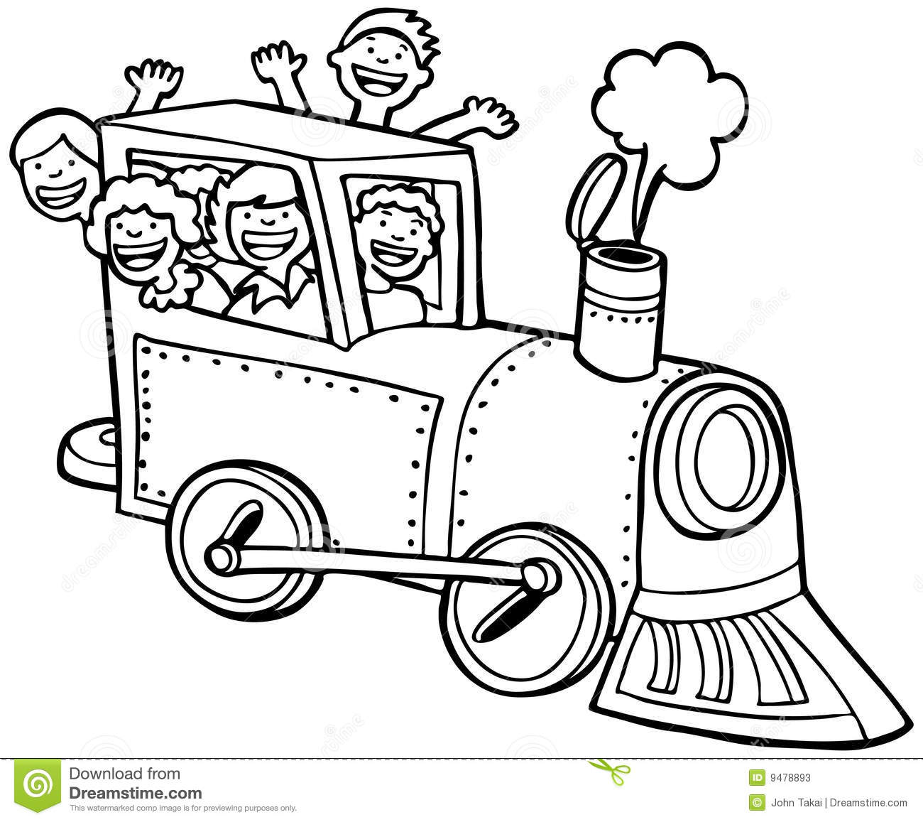 Locomotive Clipart Black And White Clipart Panda