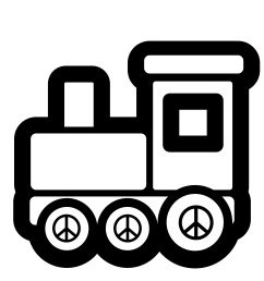 train clipart black and white [ 3333 x 3333 Pixel ]