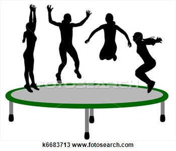 Stock Photo Woman Trampoline Clipart Panda Free