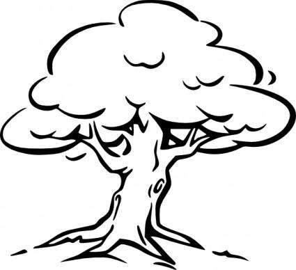 tree outline clip art