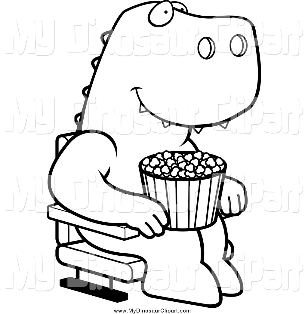 Popcorn Clipart Black And White Clipart Panda