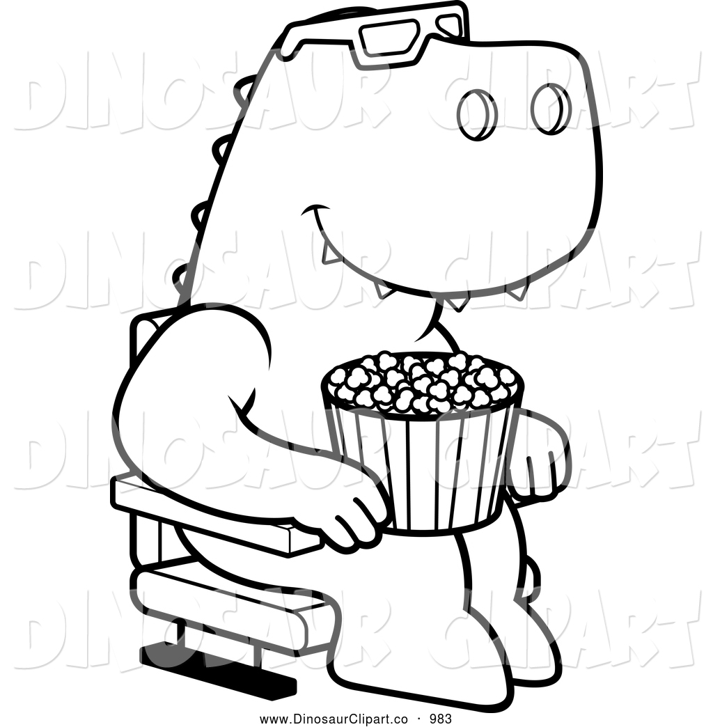 Trex Clipart Black And White Clipart Panda