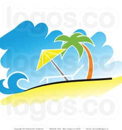 tropical beach clipart [ 1024 x 1044 Pixel ]