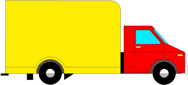 truck clipart top view