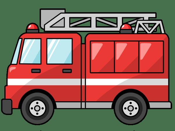 fire truck clipart panda